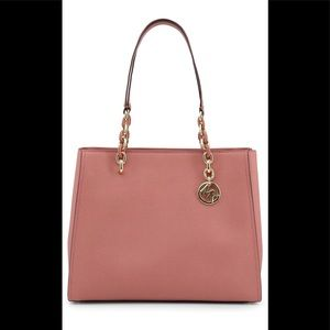 Michael Kors Sofia Saffiano Leather Bag in Rose